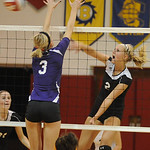 Brookside Shelby Kerstetter slams past Keystone Becca Conrad Oct. 6.  Steve Manheim