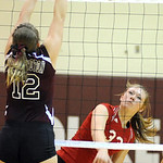 Brookside Jeanine Musall slams past Wellington Victoria Reisinger Oct. 11.   Steve Manheim