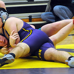 Avon Joe Travagliante defeats Amherst Todd Hastings in 220 wt. class at Avon on Jan. 10.   steve Manheim