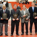 The 2014  Hall of Fame inductees were Vince Matteucci, left, Roberto Cobos, Skip Fair,  Brian Bartos, Ryan Myers and Nick Nutter. STEVE MANHEIM/CHRONICLE
