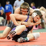 Keystone's Jacob Worthington wrestles against Covington's A.J. Quellette in the Division III 182 pound consolation match at the state tournament Saturday in Columbus.