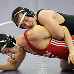 Keystone David Gale defeats Mike Faler of Lutheran West at Keystone Jan. 3.  Steev Manheim