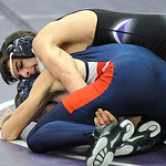 Keystone Logan Steiner defeats Oberlin Mason Bremke in 132 wt. class at Keystone quad Jan. 3. Steve Manheim