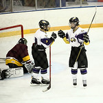 Eric Novakovic (#4)  and Brian Fielding (#9) celebrate after scoring Avon&#039;s 4th goal. photo by Ray Riedel