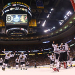The Chicago Blackhawks celebrate after beating the Boston Bruins 3-2 in Game 6 of the NHL hockey Stanley Cup Finals Monday, June 24, 2013, in Boston. (AP Photo/Harry How, Pool)