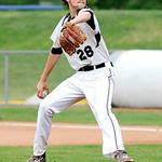 Lorain County Ironmen's J.T. Brubaker pitches against the Danville Dans. KRISTIN BAUER | CHRONICLE