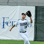 Lorain County Ironmen right fielder Kyle Chontos catches a popfly. KRISTIN BAUER | CHRONICLE