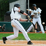 Lorain County Ironmen's Lucas Raley bats against the Danville Dans. KRISTIN BAUER | CHRONICLE
