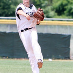 Lorain County Iromen short stop Nate Langhal turns to make the throw to first to get the out in the fourth inning against Slippery Rock yesterday afternoon at The Pipe Yard in Lorain. (CT ph …