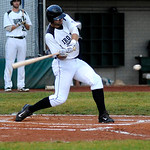 Ironmen's left fielder Taylor Emody bats against the Kings. KRISTIN BAUER | CHRONICLE