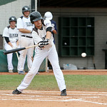 Lorain County Ironmen Nate Langhals gets an RBI in the first inning. ANNA NORRIS/CHRONICLE