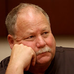 Cleveland Browns president Mike Holmgren talks with reporters at team headquarters in Berea, Oh., Wednesday July 28, 2010. (AP Photo/The Plain Dealer, Gus Chan) ** NO MAGS, NO TV, ONLINE O …