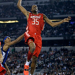 West All-Star Kevin Durant of the Oklahoma City Thunder goes up for a dunk during the second quarter of the NBA All-Star basketball game Sunday, Feb. 14, 2010, at Cowboys Stadium in Arlingto …