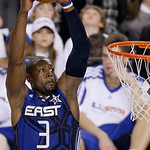 East All-Star Dwyane Wade of the Miami Heat dunks during the fourth quarter of the NBA All-Star basketball game Sunday, Feb. 14, 2010, at Cowboys Stadium in Arlington, Texas. (AP Photo/Tony  …