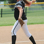 Madison Oberg of Amherst pitches for Ohio Outlaws Silver. STEVE MANHEIM/CHRONICLE