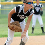 Autumn Accord of Lagrange makes an out for Ohio Outlaws Silver.  STEVE MANHEIM/CHRONICLE