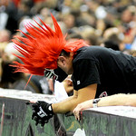 Gladiators' fans put their head downs as the Arizona Rattlers pull farther ahead.  KRISTIN BAUER | CHRONICLE