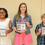 Alexis Qualls, Paige Keim and Brenton Dills are the 2014 Chronicle Telegram YABA Bowlers of the Year.  KRISTIN BAUER | CHRONICLE
