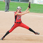 Elyria's April Howser pitches against Indiana. KRISTIN BAUER | CHRONICLE