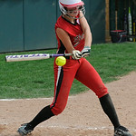 Elyria's Becca Kubisen bats against Indiana on Aug. 2 at Firestone Field in Akron. KRISTIN BAUER | CHRONICLE
