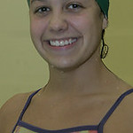 Kaya Wearsch of EC is proficient at the backstroke and a top area swimmer.