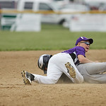 Michael Crowell makes an out before the runner reaches second base. RAY RIEDEL/CHRONICLE
