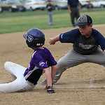 Keystone's Seth Cogar slides back to third. RAY RIEDEL/CHRONICLE