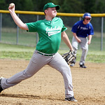Columbia Jacobsky Plumbing's Bobby Costello pitches. ANNA NORRIS/CHRONICLE