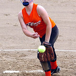 Lorain Xplosion's starting  pitcher #20 Katelyn Janis.