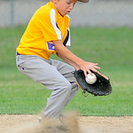 Avon second baseman Ian Kitchen fields a ground ball. KRISTIN BAUER | CHRONICLE