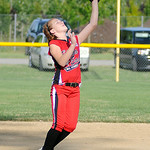 Elyria second baseman Hailey Sykuta catches a pop fly. KRISTIN BAUER | CHRONICLE