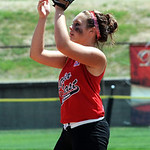 Elyria Katie Travers makes a catch in third inning Aug. 6.  Steve Manheim