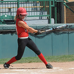 Elyria Madison Fullmer gets a base hit in first inning Aug. 6.  Steve Manheim