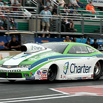 Dave Connolly, of Elyria, races in the Pro Stock Car heat during the Summit