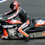 Andrew Hines finished first in the Pro Stock Motorcyle finals on July 6.   KRISTIN BAUER | CHRONICLE