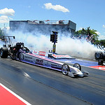 Top Alcohol Dragsters race in the qualifier at Norwalk Summit Motorsports Park on July 4. STEVE MANHEIM/CHRONICLE