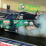 John Force in funny car qualifying at Norwalk on July 4. STEVE MANHEIM/CHRONICLE