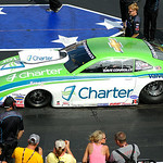 Dave Connolly, an Elyria native, places second in the Pro Stock finals on July 6. KRISTIN BAUER | CHRONICLE