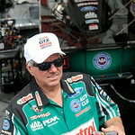 John Force visits with his fans during the Summit Racing Equipment NHRA Finals