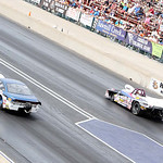 Ray Connolly, of Grafton, left, races in the Super Gas class in the 2013 Summit Racing Equipment NHRA Nationals yesterday at Summit Motorsports Park in Norwalk. Connolly was eliminated in th …