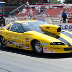 Local driver Jerry Albert of Avon Ohio makes a pass Sunday at Summit Motorsports Park. CT photo by Brian Woods.