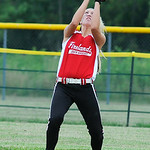 Firelands' center fielder Alex Willis catches a popfly hit into the outfield by the Crushers. KRISTIN BAUER | CHRONICLE