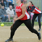 Firelands' pitcher Claire Vilagi pitches against the Crushers. KRISTIN BAUER | CHRONICLE