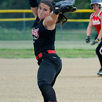 Crushers' pitcher Selena Shawver pitches against Firelands. KRISTIN BAUER | CHRONICLE