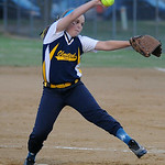 Olmsted Falls' Sara Zawadski pitches against Grafton. KRISTIN BAUER | CHRONICLE