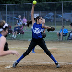 Grafton's Stephanie Griffin pitches against Olmsted Falls. KRISTIN BAUER | CHRONICLE