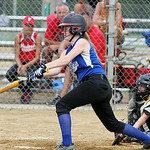 Grafton's Meghan Newton gets a hit against the Bristol Panthers. ANNA NORRIS/CHRONICLE