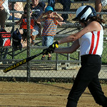 Emily Berg of Columbia Vitamix hits an RBI single. STEVE MANHEIM/CHRONICLE
