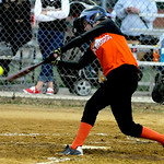 Lorain's Myranda Adkins bats against the Crushers. KRISTIN BAUER | CHRONICLE