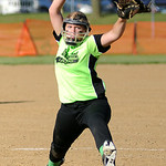 Wellington starting pitcher Krista Denny delivers against Lorain. KRISTIN BAUER | CHRONICLE